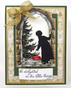 Impression Obsession - Cling Mounted Rubber Stamp - By Dina Kowal - Christmas Morning