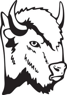 Buffalo bison head animal clip art for custom ts Buffalo Animal, Buffalo Art, Machine Silhouette Portrait, Bison, Lion Sketch, Wood Badge, Wood Burning Patterns, Scroll Saw Patterns, Animal Coloring Pages