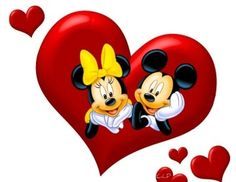 MICKEY MOUSE AND MINNIE MOUSE Mickey And Minnie Love, Mickey Mouse Art, Mickey And Friends, Disney Mickey, Walt Disney Life, Disney Frozen, Disney Valentines, Disney Birthday, Mickey Mouse Imagenes