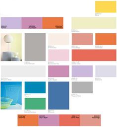 Modern paint colors schemes for home decorating in 2013.
