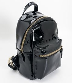 Kleiner Damenrucksack in Lack – Renner – Tipos de Sacola Cute Mini Backpacks, Stylish Backpacks, Girl Backpacks, Bags For Teens, School Bags For Girls, Girls Bags, Backpack For Teens, Small Backpack, Backpack Bags