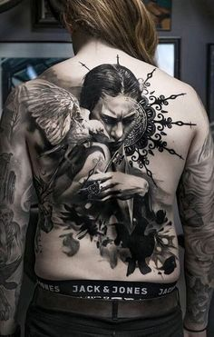 <<Check out the tattoos  #tattoomenow #tattooideas #tattoodesigns #back #fullback Back Tattoos For Guys, Full Back Tattoos, I Tattoo, Sleeve Tattoos, Piercing, Tattoo Designs, Hair Styles, Men, Ink Art