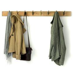 Reclaimed Wood & Bracket Coat Rack
