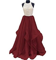 Amazon.com: TBGirl Gorgeous Beaded Prom Dresses KeyHole Chiffon Sweet 16 Party Gown: Clothing
