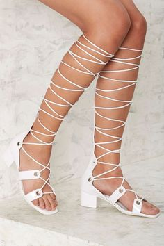 Jeffrey Campbell Bryndis Leather Sandal   Shop Shoes at Nasty Gal!
