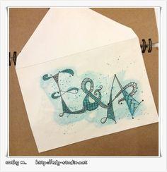 Enveloppe mariage - Zentangles - doodling - edg-studio.net