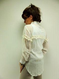 Ibiza kwast blouse Jubylee - Wit www.lovemfashion.nl
