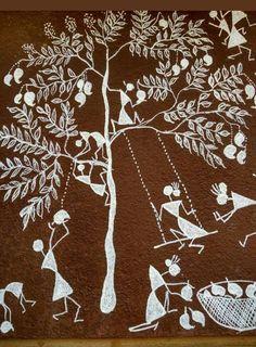 Madhubani Art, Madhubani Painting, Worli Painting, Indian Folk Art, Indian Art Paintings, Hindu Art, Traditional Paintings, Monochrom, Mural Art
