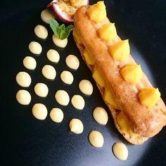 L'éclair passion..... #menubistronomique #éclair #fruitsdelapassion #dessert #pâtisserie #pastry #faitmaison