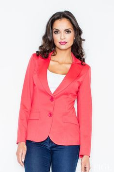 Looking for Blazers? Call off the search with our Blazer With Tailored Waist In Coral. Shop unique fashion at SilkFred Orange Blazer, Orange Jacket, Red Blazer, Blazer Jacket, International Fashion, Classy Outfits, Classy Clothes, Work Clothes, Unique Fashion