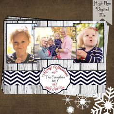 Personalized PHOTO CHRISTMAS CARD 5x7 or by MomentsInTimeWallArt, $10.00