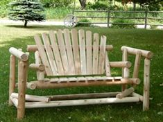 4' Adirondack Log Glider | Rustic Cedar Log Glider | Made in USA