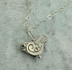 Little Bird Necklace - in sterling silver by Kathryn Riechert. via Etsy.