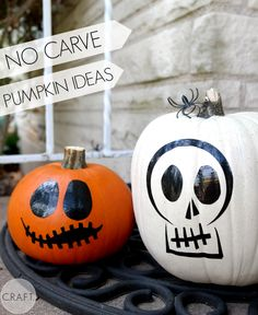 No Carve Halloween Pumpkin Decorating Ideas made with Cricut Explore -- C.R.A.F.T. #DesignSpaceStar Round 3