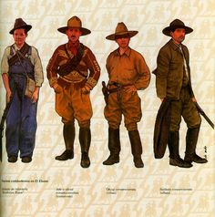History of the revolutionary uniforms. Cristero War, Mexican Revolution, Travel Ads, Military Art, Old West, Vintage Art, Folk, Armors, Mexico City