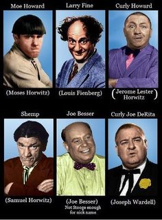 The (6) Three Stooges...Who Was Your Favorite??