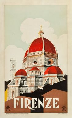 Florence, Italy Travel Poster (ENIT, c. 1930s)