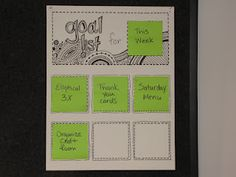 My first Pinterest project - the rotating goal board.  love it!