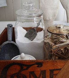 Great way to store laundry soap