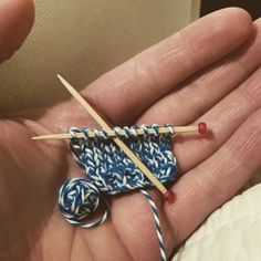 Knitting on toothpicks... so fun and adorable