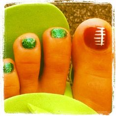 My very own FOOTBALL Nails!!!