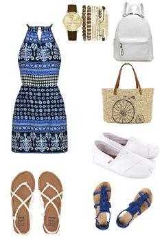 Casual summer dress outfit which of the shoes and bags would you use? / Outfit vasual de verano, que opcion de zapatos y bolsos escogerias? #fashiersapp #fashiontips #moda #summerstyle #fashionista