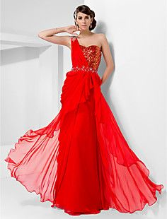 +Sheath/Column+One+Shoulder+Floor-length+Chiffon+And+Sequine...+–+AUD+$+210.39