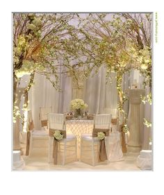 Its not always about having a candlelit dinner here a room here a room decorated almost entirely with white and gold accents looks sophisticated and clean weddings junglespirit