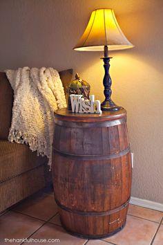 The Hankful House: New York Vintage Barrel End Table