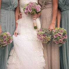 The perfect pink, grey & aqua palette, and oh so many lovely rustic details in this pretty DIY wedding.