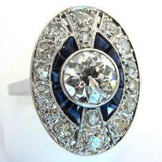 Bague de mariage des années 1920 1930 - 1139 #ring #bague #vintage http://www.bijoux-bijouterie.com/