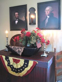 presidential portraits and images add a historical look and patriotic feel to your home