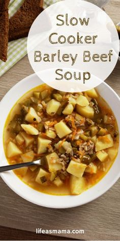 Slow Cooker Barley Beef Soup