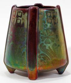 Weller Sicard | Footed vase (ca.1905).