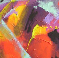 cuadroen acrilico espatulado sobre lienzo 35x35