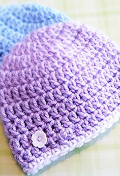 [Free Crochet Pattern] By Far The Easiest And Fastest Newborn Hat