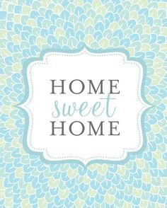 Home Sweet Home Art Print / Choose your Color by jennasuedesign, $18.00