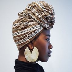 Learn how to tie a head wrap like a boss | Head Wrap Inspiration | Head Scarves on Black Women | Protect your Natural Hair | Patterned Scarf