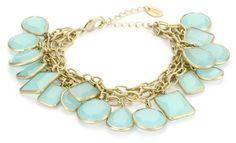"""Danielle Stevens """"Resort"""" Blue Stone Bracelet"""