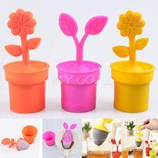 Flower Silicone Tea Infuser Loose Leaf Strainer Herbal Spice Filter Diffuser