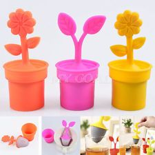 Flower Silicone Tea Infuser Loose Leaf Strainer Herbal Spice Filter Diffuser