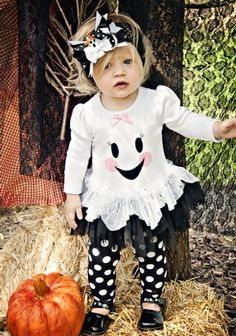 Girls Halloween Ghost Dress & Legging Set12 Months to 6XNow in Stock!
