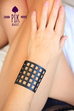 Items similar to HOT PRICE! Leather Bracelet cuff, Leather Cuff, Ladies Leather Bracelets, Black Leather on Etsy Leather Necklace, Leather Jewelry, Metal Jewelry, Diy Leather Projects, Leather Diy Crafts, Laser Cut Leather, Leather Cuffs, Black Leather, Leather Tooling Patterns