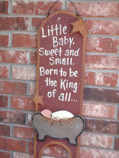 Nativity sign by SassySouthernCharm on Etsy
