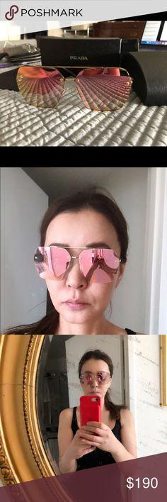 e07575b9 Prada oversized mirrored sunglasses Brand new in box . Prada Accessories  Glasses Mirrored Sunglasses, Prada