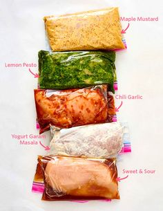 5 Freezer Marinades for tofu or tempeh — Quick and Easy Weeknight Dinners Pork Marinade, Chicken Marinade Recipes, Chicken Marinades, Marinate Meat, Recipe Chicken, Freezer Chicken, Freezer Meals, Freezer Recipes, Freezer Cooking
