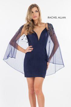 f30100a4d7b Rachel Allan 4534 is a short spaghetti strap homecoming cocktail dress
