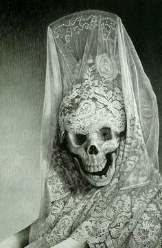 Laurie Lipton's charcoal and pencil pieces always leave me in awe. and it's dark out today, so this is fitting...