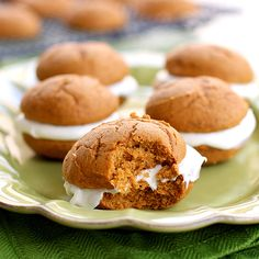Bite of Pumpkin Whoopie Pies