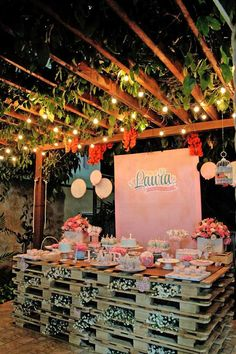 Pastel Garden themed birthday party via Kara's Party Ideas KarasPartyIdeas.com Cake, decor, favors, supplies, cupcakes, and MORE! #gardenparty #karaspartyideas (14)